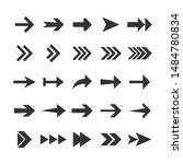 arrow icon set. vector... | Shutterstock .eps vector #1484780834
