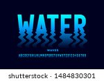 water waves style font design ... | Shutterstock .eps vector #1484830301