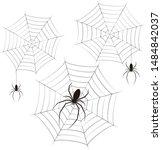 spider web vector illustration... | Shutterstock .eps vector #1484842037