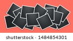 photo frames collage. square... | Shutterstock .eps vector #1484854301