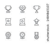 black line reward icon for... | Shutterstock .eps vector #1484865107