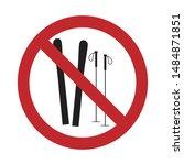 vector silhouette no entry mark ... | Shutterstock .eps vector #1484871851