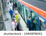 passenger flow concept. people... | Shutterstock . vector #1484898041