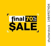 final sale   up to 70  off... | Shutterstock .eps vector #1484907404