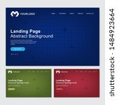 website landing page   abstract ...