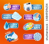 all washing clothes stickers... | Shutterstock .eps vector #1484939654