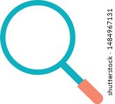magnifying magnifier search lab ... | Shutterstock .eps vector #1484967131
