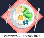 ketogenic diet nutrition. white ... | Shutterstock .eps vector #1485021824