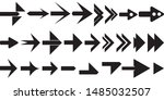 black arrow collection on white ... | Shutterstock .eps vector #1485032507