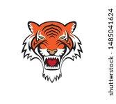 tiger logo template design... | Shutterstock .eps vector #1485041624