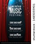 vector music festival poster... | Shutterstock .eps vector #1485055901
