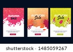 autumn sale offer banner set... | Shutterstock .eps vector #1485059267