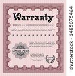 red vintage warranty... | Shutterstock .eps vector #1485075464