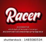 racer sticker font effect ...   Shutterstock .eps vector #1485080534