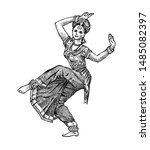 Dancing Indian Woman In...