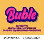 modern old pop art alphabet set   Shutterstock .eps vector #1485083834