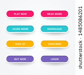 set of modern buttons with...