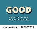 modern font alphabet 3d bold....   Shutterstock .eps vector #1485087791