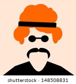hippie man with red hair and... | Shutterstock .eps vector #148508831