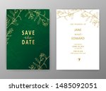floral vector card set ... | Shutterstock .eps vector #1485092051