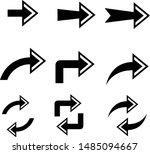 arrows vector collection with... | Shutterstock .eps vector #1485094667