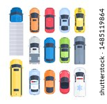 vector set of cars top view in... | Shutterstock .eps vector #1485119864
