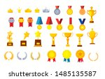 trophies and awards vector...   Shutterstock .eps vector #1485135587