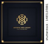 artistic and luxury logo. can... | Shutterstock .eps vector #1485135881