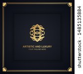 artistic and luxury logo. can... | Shutterstock .eps vector #1485135884