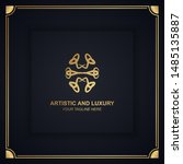artistic and luxury logo. can... | Shutterstock .eps vector #1485135887