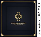 artistic and luxury logo. can... | Shutterstock .eps vector #1485135914