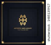 artistic and luxury logo. can... | Shutterstock .eps vector #1485135917
