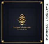 artistic and luxury logo. can... | Shutterstock .eps vector #1485135941
