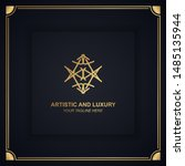 artistic and luxury logo. can... | Shutterstock .eps vector #1485135944