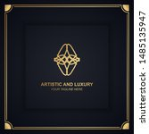 artistic and luxury logo. can... | Shutterstock .eps vector #1485135947