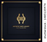 artistic and luxury logo. can... | Shutterstock .eps vector #1485135974