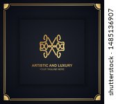 artistic and luxury logo. can... | Shutterstock .eps vector #1485136907