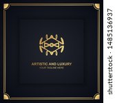 artistic and luxury logo. can... | Shutterstock .eps vector #1485136937