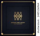 artistic and luxury logo. can... | Shutterstock .eps vector #1485136964