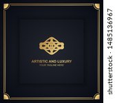 artistic and luxury logo. can... | Shutterstock .eps vector #1485136967
