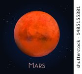 3d mars or realistic red planet....   Shutterstock .eps vector #1485155381