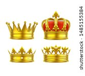 isolated 3d king crown or... | Shutterstock .eps vector #1485155384