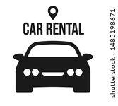 car rental logotype. isolated... | Shutterstock .eps vector #1485198671