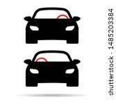 left and right hand drive... | Shutterstock .eps vector #1485203384