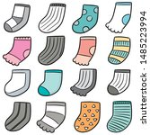 vector set of socks cartoon | Shutterstock .eps vector #1485223994