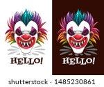 scary circus print. creepy... | Shutterstock .eps vector #1485230861
