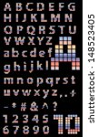 pixel font  colorful squares 8... | Shutterstock .eps vector #148523405