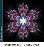 abstract fractal flower. | Shutterstock . vector #148524965