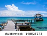 beautiful tropical beach in koh ... | Shutterstock . vector #148525175