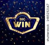 big win congratulations frame ... | Shutterstock .eps vector #1485252167